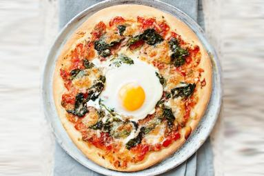 Egg And Rocket Pizzas